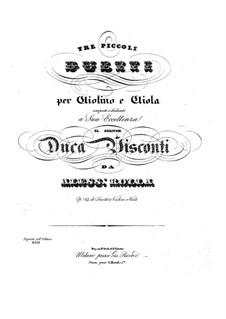 Three Duos for Violin and Viola, BI 91, 83, 52 Op.17: Tres duos pra violino e viola by Alessandro Rolla