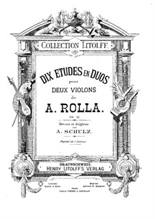 Ten Duos for Two Violins, Op.10: Ten Duos for Two Violins by Alessandro Rolla
