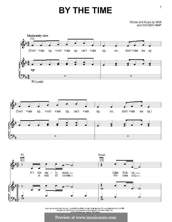 By the Time: Para vocais e piano (ou Guitarra) by Mika
