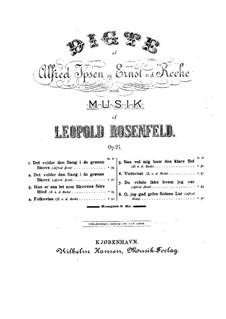 Poems, Op.24: Poems by Leopold Rosenfeld