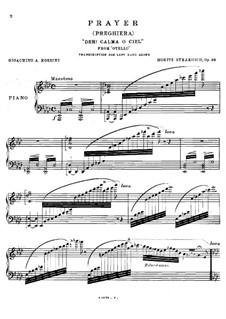 Otello: Act III, aria 'Deh calma, o ciel', for the left hand alone by Gioacchino Rossini