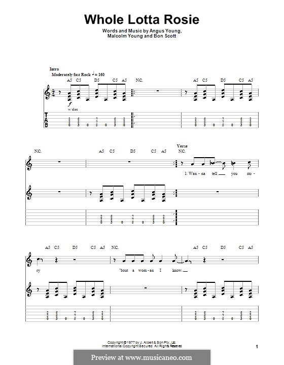 Whole Lotta Rosie (AC/DC): Para guitarra com guia by Angus Young, Bon Scott, Malcolm Young
