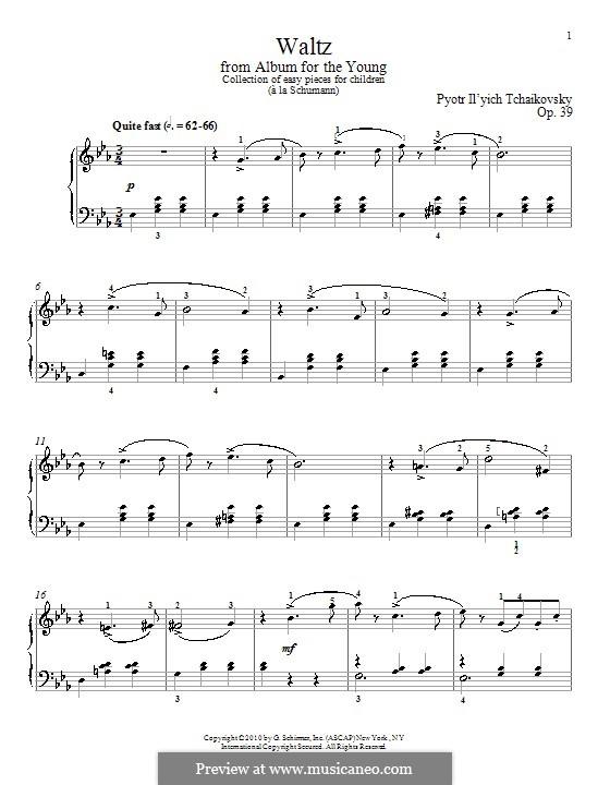 No.8 Waltz: Para Piano by Pyotr Tchaikovsky