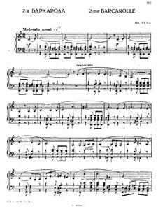 Barcarolle in C Major, Op.45bis: Para Piano by Anton Rubinstein