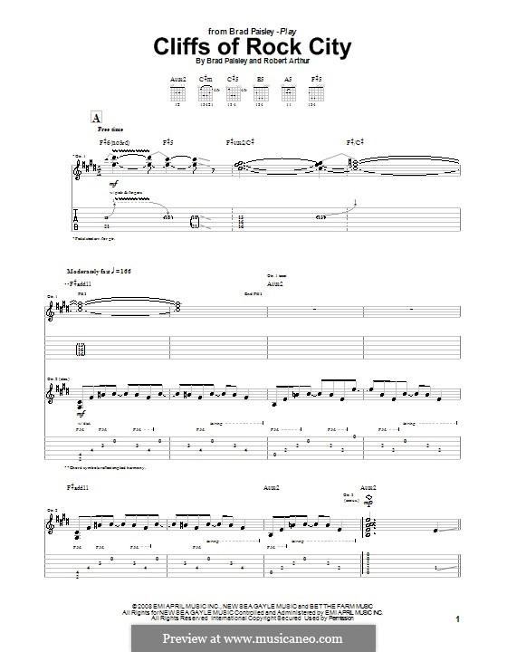 Cliffs of Rock City (Brad Paisley): Para guitarra com guia by Robert Arthur