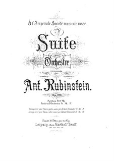 Suite for Orchestra, Op.119: Suite for Orchestra by Anton Rubinstein