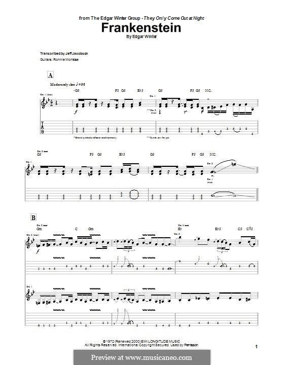 Frankenstein (from Wayne's World 2): Para guitarra com guia by Edgar Winter