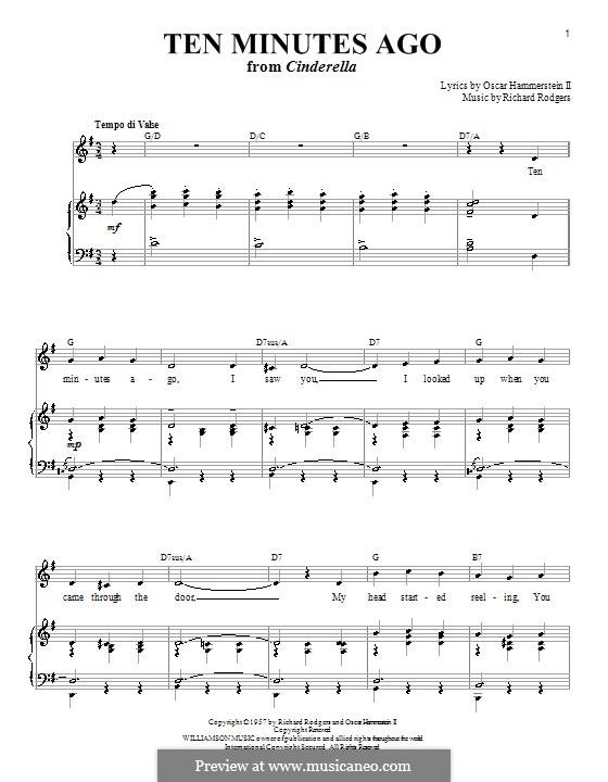 Ten Minutes Ago: para vocais,piano ou guitarra by Richard Rodgers