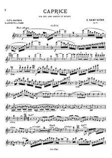 Caprice on Danish and Russian Airs, Op.79: Caprice on Danish and Russian Airs by Camille Saint-Saëns