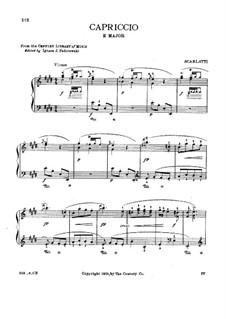 Capriccio in E Major, K.20: Para Piano by Domenico Scarlatti