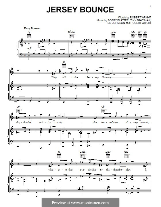Jersey Bounce (Ella  Fitzgerald): Para vocais e piano (ou Guitarra) by Edward F. Johnson, Bobby Plater, Tiny Bradshaw