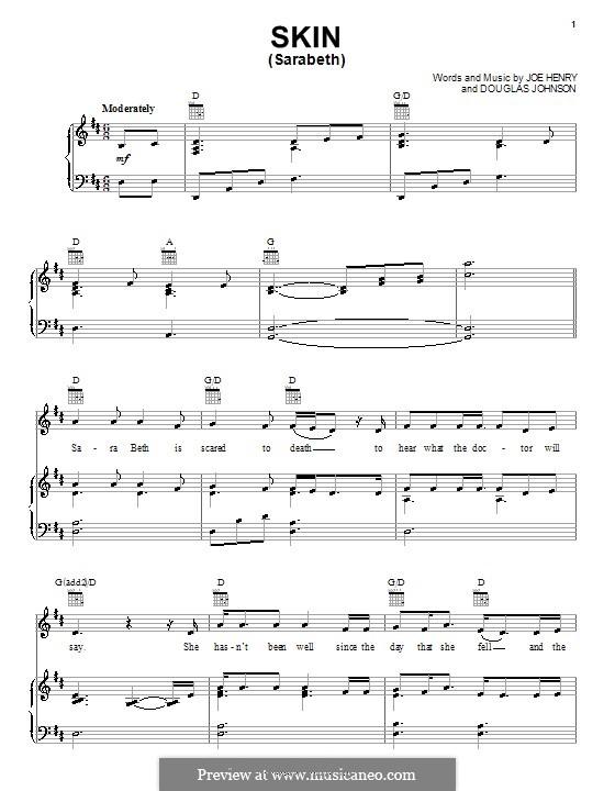 Skin (Sarabeth): For voice and piano or guitar (Rascal Flatts) by Douglas Johnson, Joe Henry