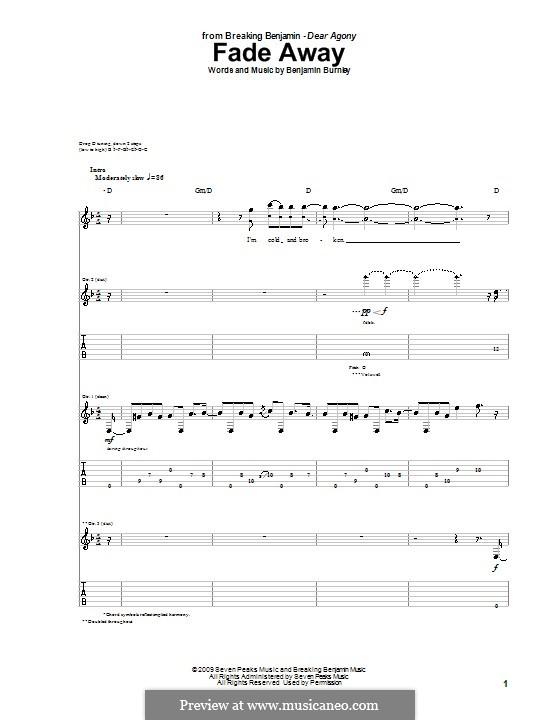 Fade Away (Breaking Benjamin): Para guitarra com guia by Benjamin Burnley