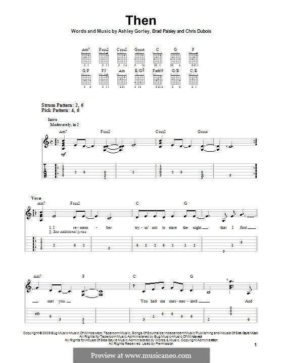 Then: Para guitarra (versão facil) by Ashley Gorley, Chris DuBois