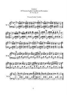 Sixteen Ländler and Two Écossaises, D.734 Op.67: set completo by Franz Schubert
