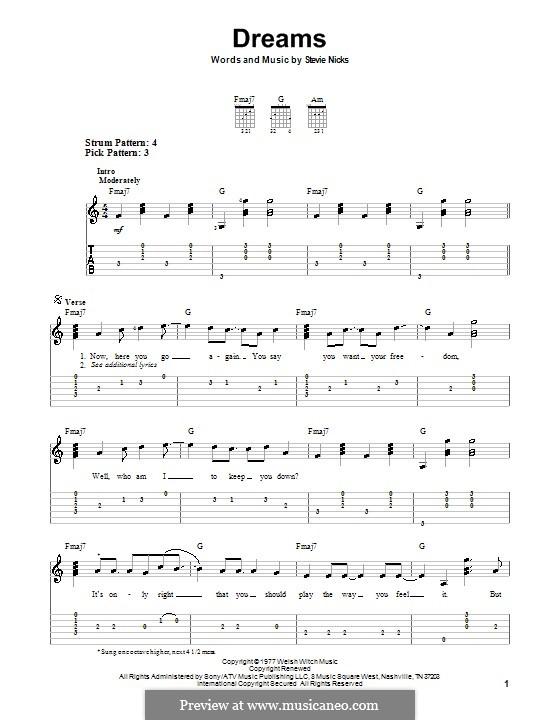 Dreams (Fleetwood Mac): guia facil de guitarra by Stevie Nicks