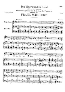 Der Vater mit dem Kind (The Father with His Child), D.906: Para vocais e piano by Franz Schubert