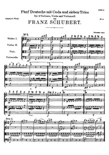 Five German Dances and Seven Trios for Strings, D.90: Five German Dances and Seven Trios for Strings by Franz Schubert