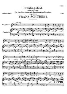 Frühlingslied (Spring Song), D.919: Frühlingslied (Spring Song) by Franz Schubert