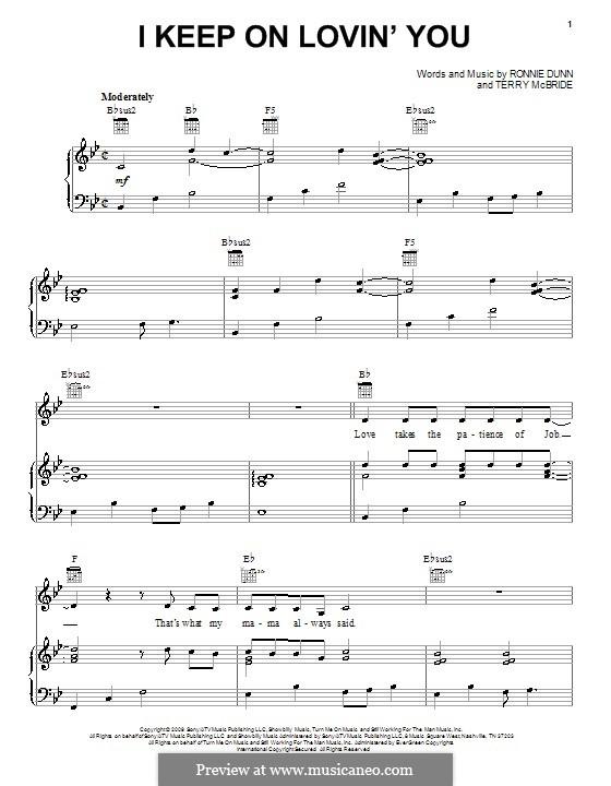 I Keep on Loving You: Para vocais e piano (ou Guitarra) by Ronnie Dunn, Terry McBride