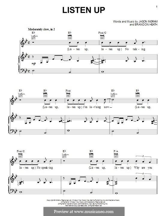 Listen Up: Para vocais e piano (ou Guitarra) by Jason David Ingram