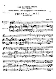 Der Hochzeitsbraten (The Wedding Roast), D.930 Op.104: Der Hochzeitsbraten (The Wedding Roast) by Franz Schubert