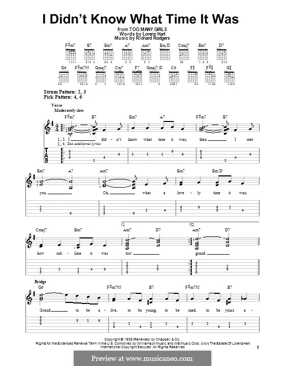 I didn't Know What Time it Was: facil para guitarra (com guia) by Richard Rodgers