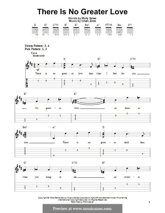 There Is No Greater Love: Para guitarra (versão facil) by Marty Symes