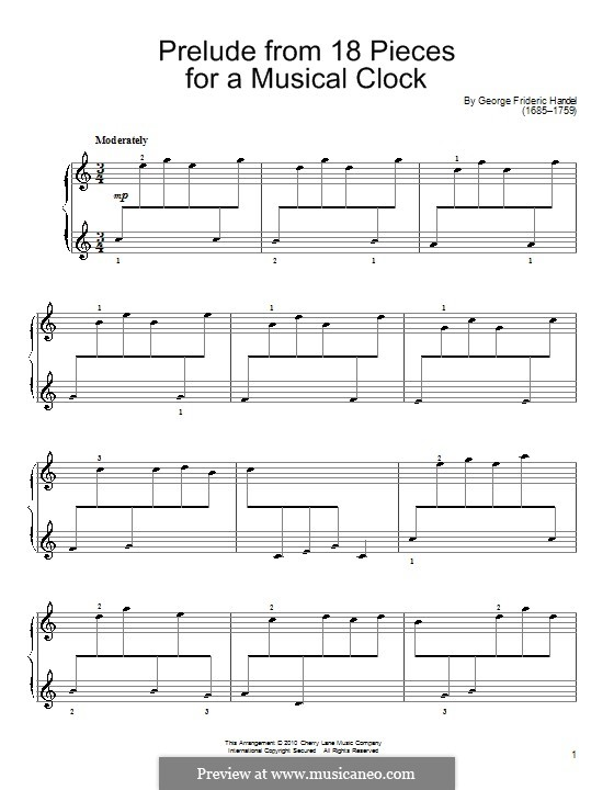 Musical Clock: Prelude em C maior by Georg Friedrich Händel
