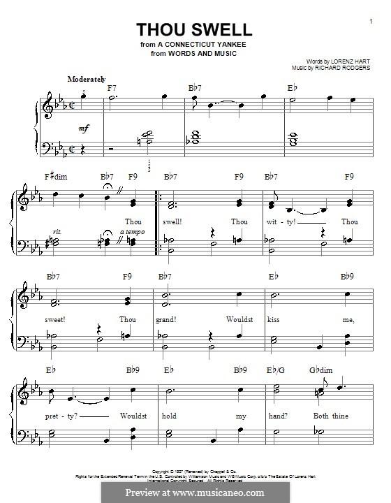 Thou Swell: Facil para o piano by Richard Rodgers