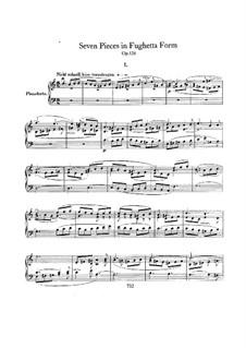 Seven Pieces in Fughetta Form, Op.126: Para Piano by Robert Schumann