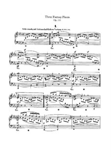 Three Fantastic Pieces, Op.111: For a single performer by Robert Schumann