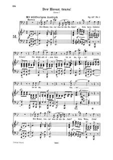 Four Hussar Songs, Op.117: set completo by Robert Schumann
