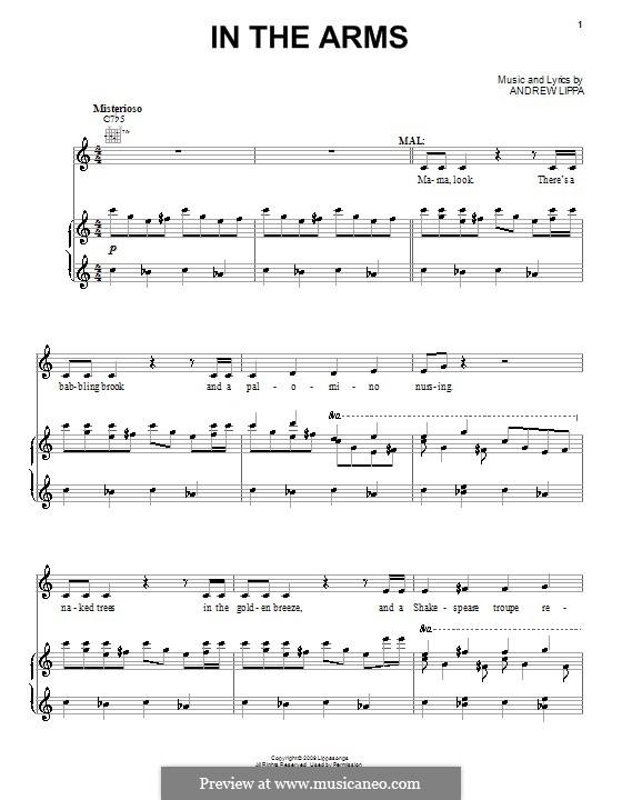 In the Arms: Para vocais e piano (ou Guitarra) by Andrew Lippa