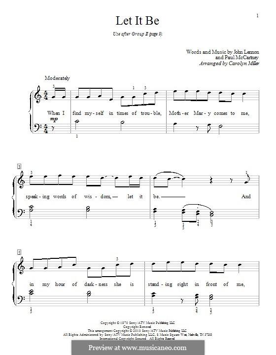 Let it Be, for Piano: With lyrics by John Lennon, Paul McCartney