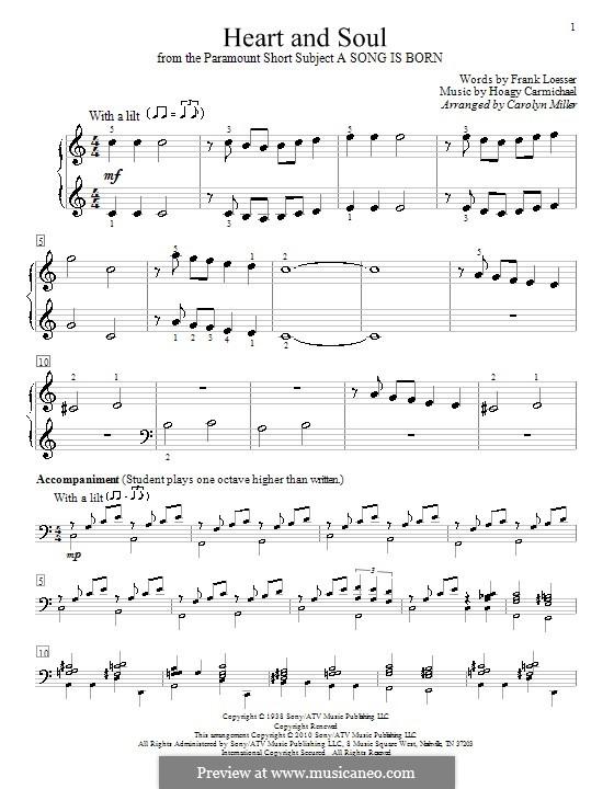 Heart and Soul: Para Piano by Hoagy Carmichael