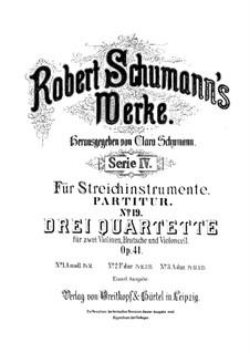 Three String Quartets, Op.41: quarteto No 2 by Robert Schumann