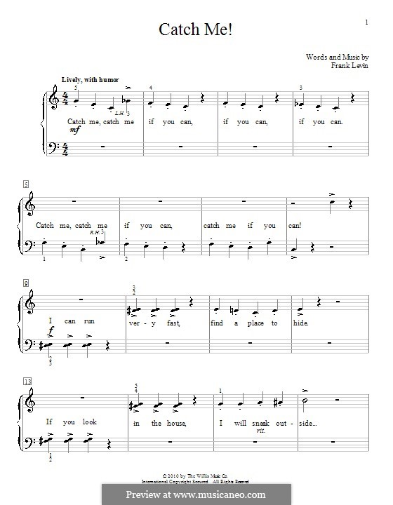 Catch Me!: Para Piano by Frank Levin