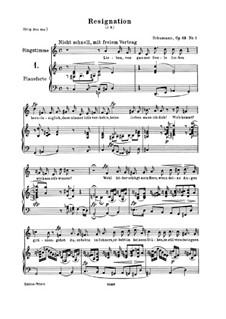 Three Songs, Op.83: Partitura piano-vocal by Robert Schumann