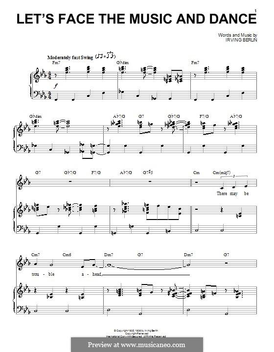 Let's Face the Music and Dance: Para vocais e piano (ou Guitarra) by Irving Berlin