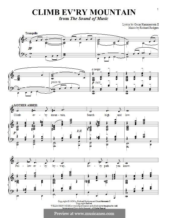 Climb Ev'ry Mountain: Para vocais e piano by Richard Rodgers
