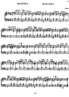Mazurka in B Minor: Mazurka in B Minor by Alexander Scriabin