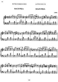 Mazurka in F Major: Mazurka in F Major by Alexander Scriabin
