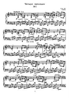 Four Preludes, Op.31: Para Piano by Alexander Scriabin