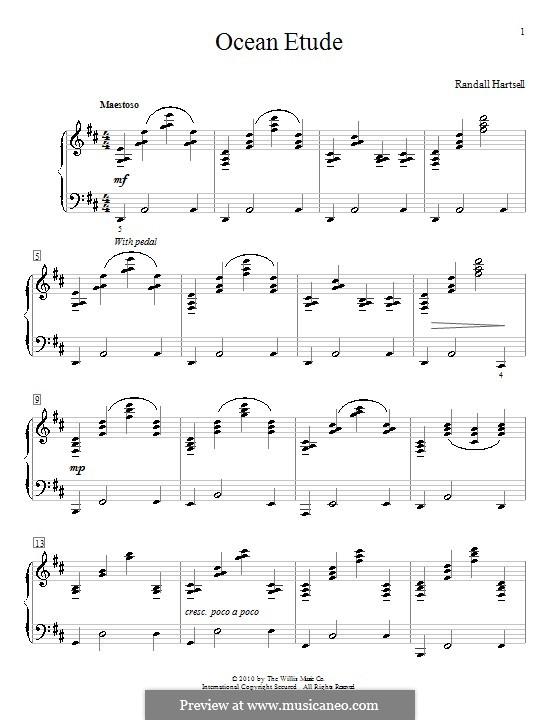 Ocean Etude: Para Piano by Randall Hartsell