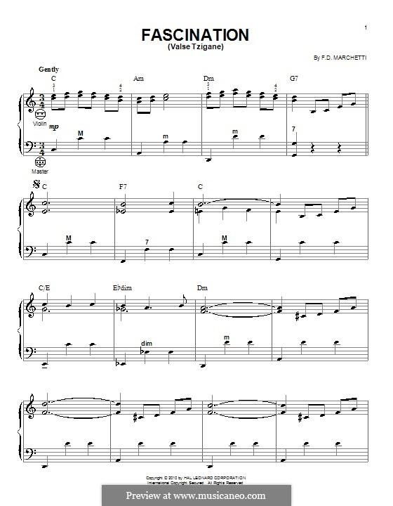 Fascination: para acordeão by Fermo Dante Marchetti