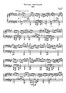 Four Preludes, Op.39: Para Piano by Alexander Scriabin