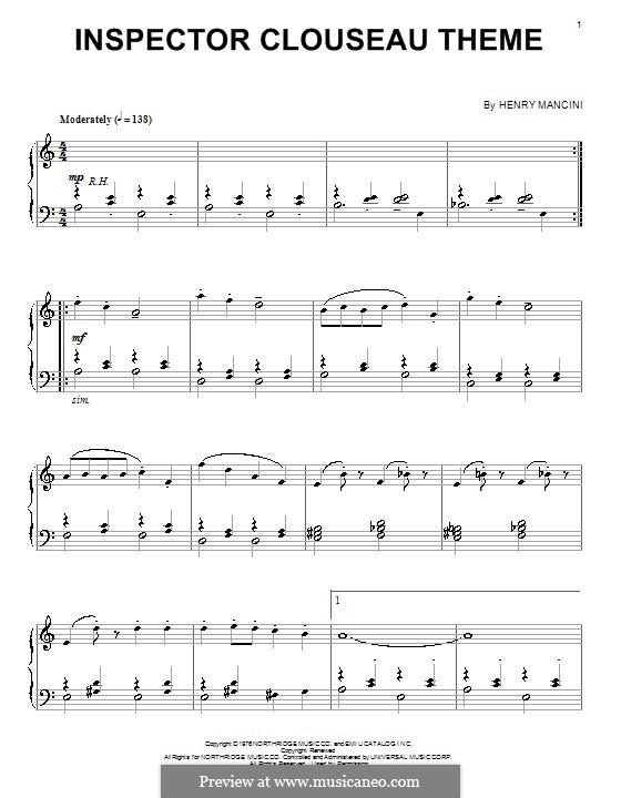 Inspector Clouseau Theme: Para Piano by Henry Mancini