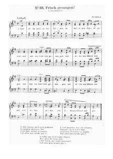 Frisch gesungen: Partitura Piano-vocal by Friedrich Silcher