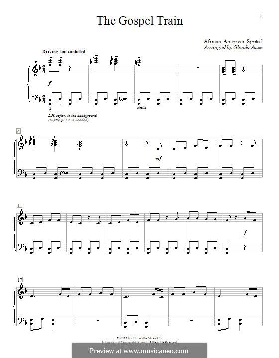 The Gospel Train: Para Piano by folklore